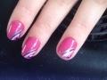 Gellak roze met strepen